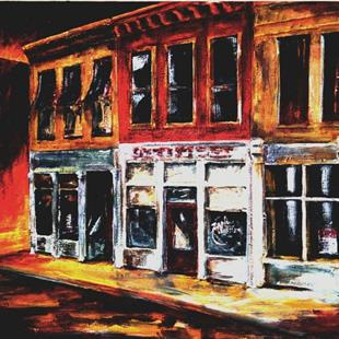 Art: Back Street by Artist Diane Millsap