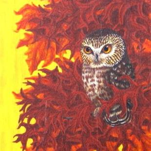 Art: Autumn Secret (SOLD) by Artist Jackie K. Hixon