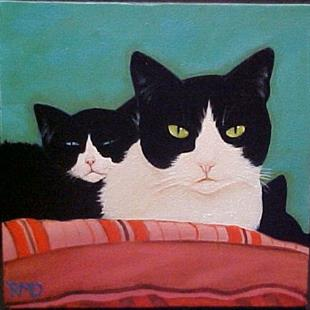 Art: MOMMA CAT by Artist Rosemary Margaret Daunis