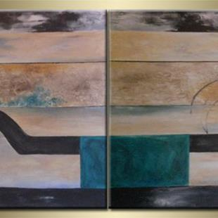 Art: ORIGINAL abstract PAINTINGS MODERN ART,acrylic by Artist Nataera
