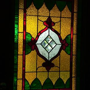 Art: Victorian-Style Stained Glass Window by Artist Linda J. McGarvey