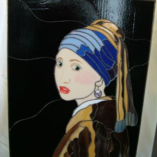 Art: Girl with a Pearl Earring by Artist Linda J. McGarvey