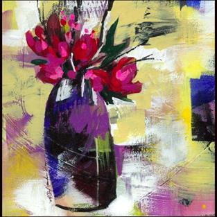 Art: Floral 7 by Artist Kathy Morton Stanion