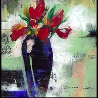 Art: Floral 9 by Artist Kathy Morton Stanion