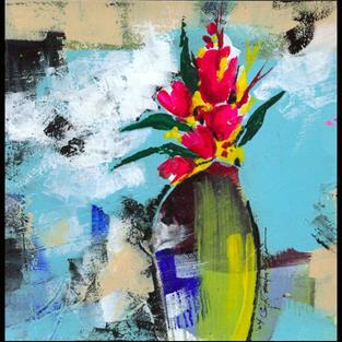 Art: Floral 10 by Artist Kathy Morton Stanion