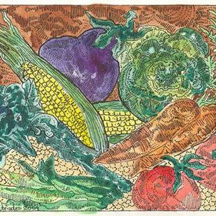 Art: Vegetable Garden for Economy by Artist Theodora Demetriades