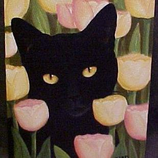 Art: TULIP LOVER by Artist Rosemary Margaret Daunis