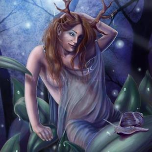 Art: Queen of the Woods by Artist Tiffany Toland-Scott