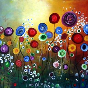 Art: FANTASTIC FLOWERS by Artist LUIZA VIZOLI
