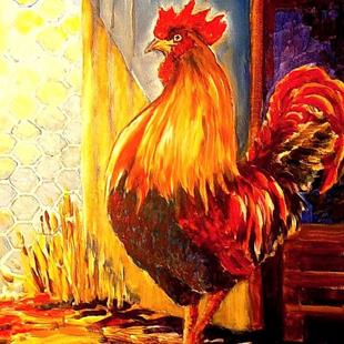 Art: Fancy French Rooster! -SOLD by Artist Diane Millsap