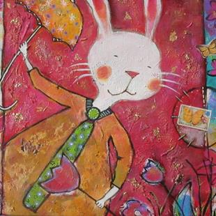 Art: Alice's Rabbit by Artist Andrea Dodwell