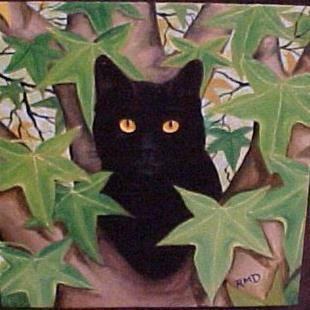 Art: TREE CAT by Artist Rosemary Margaret Daunis