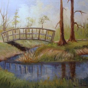 Art: Heatherbrook Bridge Park by Artist Barbara Haviland