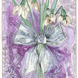 Art: Bouquet of Snowdrops by Artist Theodora Demetriades