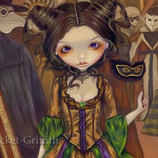 Art: At the Masquerade Ball by Artist Jasmine Ann Becket-Griffith