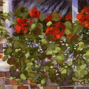 Art: Geraniums On The Edge by Artist Patricia  Lee Christensen