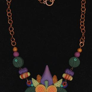 Art: TROPICAL NECKLACE by Artist Lauren Cole Abrams