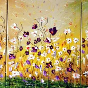 Art: Spring Wind,Lilac Blossom and Wild Flowers Field  by Artist LUIZA VIZOLI