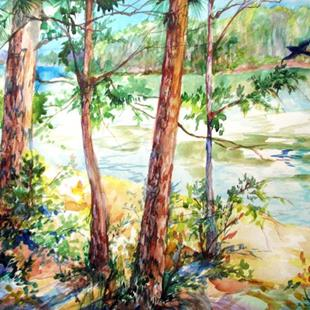 Art: THE RAVEN at LAKE CLAIBORNE by Artist Marcia Baldwin