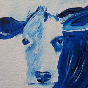 Art: Blue Bovine - sold by Artist Kathleen Ralph