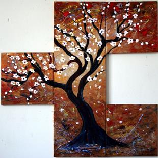 Art: BLOOMING TREE by Artist LUIZA VIZOLI