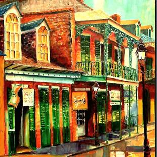 Art: Morning in the French Quarter - SOLD by Artist Diane Millsap