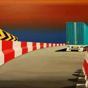 Art: This Way  (SOLD) by Artist Barry Hunt