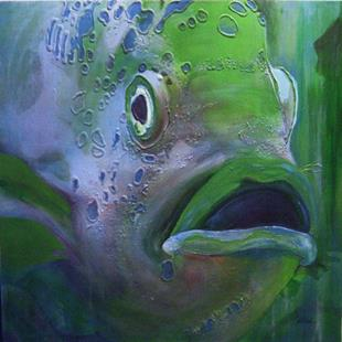 Art: Abadejo The Giant Grouper Fish - Sold by Artist victoria kloch