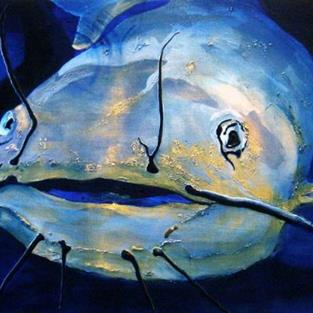 Art: Out of the blue - Private collection by Artist victoria kloch