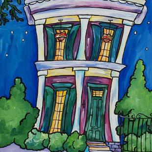 Art: Garden District Moonlight by Artist Melanie Douthit