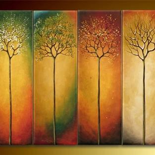 Art: Four Seasons by Artist Ewa Kienko Gawlik