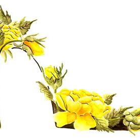 Art: Yellow Roses Stiletto by Artist Elena Feliciano