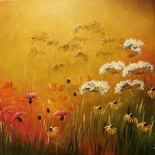 Art: Autumn Meadow by Artist Ewa Kienko Gawlik