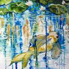 Art: EMERALD KOI POND by Artist Marcia Baldwin