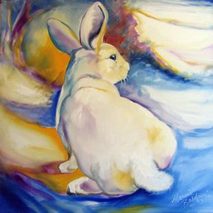 Art: SNOW BUNNY COMMISSIONED ART by Artist Marcia Baldwin