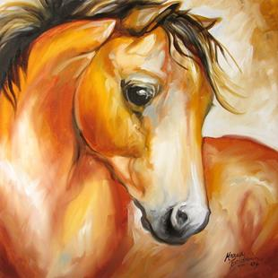 Art: THE SPANISH HORSE by Artist Marcia Baldwin