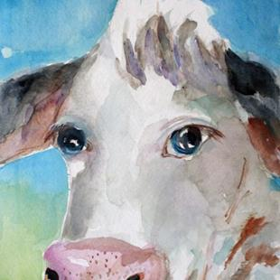 Art: Big Eyed Cow  by Artist Delilah Smith
