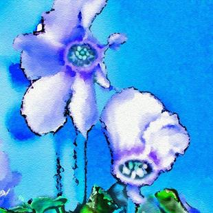 Art: Cyclamen Blues by Artist Deanne Flouton