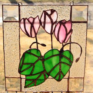 Art: Cyclamen for our Rakefet by Artist Shoshana Avramovitz