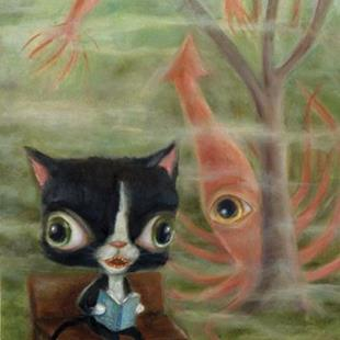 Art: Sparky's Dream by Artist Vicky Knowles