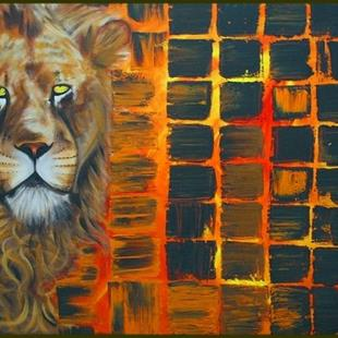 Art: LION by Artist Laura Barbosa