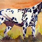 Art: Dalmation Dog, Watercolor by Artist Naquaiya