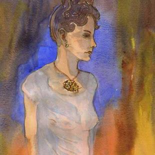 Art: Woman in Chemise--Apres Picasso by Artist Naquaiya