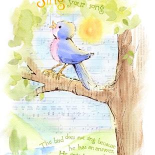 Art: Sing Your Song! by Artist Patricia  Lee Christensen
