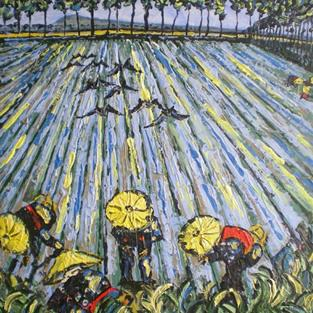 Art: Chinese Fields by Artist Andrea Golino