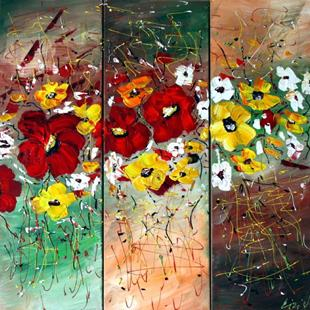 Art: DANCING FLOWERS by Artist LUIZA VIZOLI