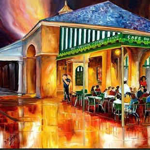 Art: Midnight at the Cafe Du Monde - SOLD by Artist Diane Millsap