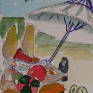 Art: Beach Books-sold by Artist Delilah Smith