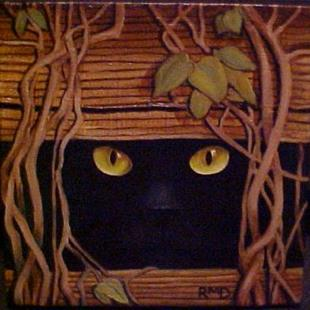 Art: PEEKING TOM by Artist Rosemary Margaret Daunis
