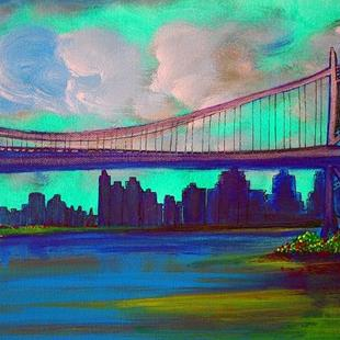 Art: Triborough Bridge From Queens by Artist Laura Barbosa